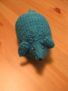 Knitted Mouse 2 (in Lagoon)